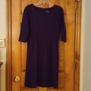 Leslie Fay deep purple dress